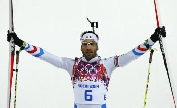 Martin Fourcade slaví na Olympiádě v Soči